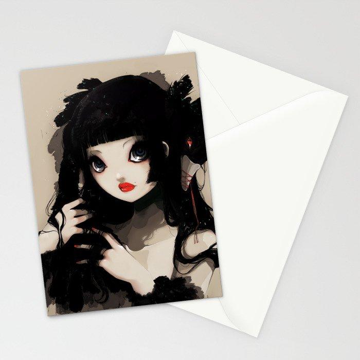 L'Oiseau silence Stationery Cards