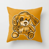 puppy Throw Pillows featuring Puppy by Omar Sangiovanni