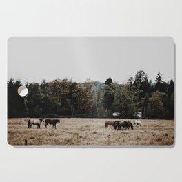 Horses Cutting Board