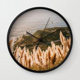 Big Sur at Sunset Wall Clock