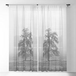 Solitude - Nature Landscape Photography Sheer Curtain