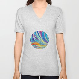 rainbow swirl Unisex V-Neck