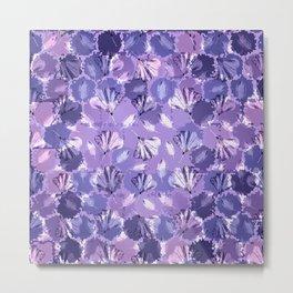 Mosaic Ginkgo (Ultra-Violet) Metal Print