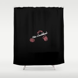 Oide Wurschthaut   [black & white] Shower Curtain