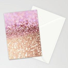 Mermaid Rose Gold Blush Glitter Stationery Cards