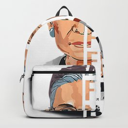 Womens Not Fragile Like A Flower But A Bomb Ruth Ginsburg RBG Backpack