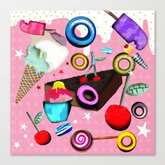 Delicious Pink Dessert Canvas Print