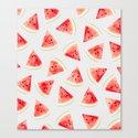 Watercolor Watermelon Pattern #society6 #buyart #decor by 83oranges