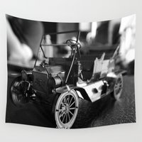 model Wall Tapestries featuring Model-T model car by Alma Vargas