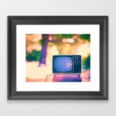 Sunset on the TV Framed Art Print