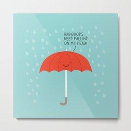 Raindrops Metal Print