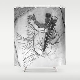 Pencil Alive Shower Curtain
