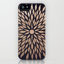 Rose Gold Flower iPhone Case