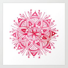 Mandala - Pink Watercolor Art Print