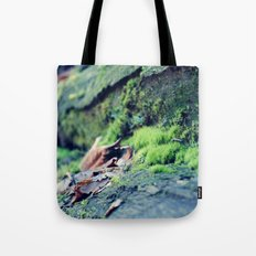Moss on the Logs Tote Bag