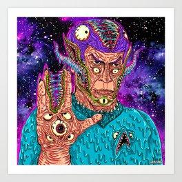 Monster Alien Art Print
