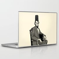 hat Laptop & iPad Skins featuring Hat Head by Ian Byers