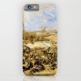 Eugene Louis Boudin - Pardon Of Ste-anne-la-palud - Digital Remastered Edition iPhone Case