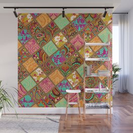 Patchwork Paisley Wall Mural