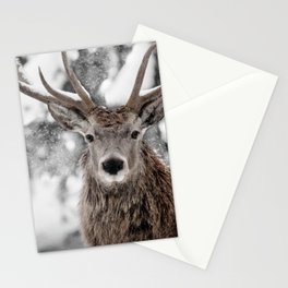 WINTER STAG Stationery Cards