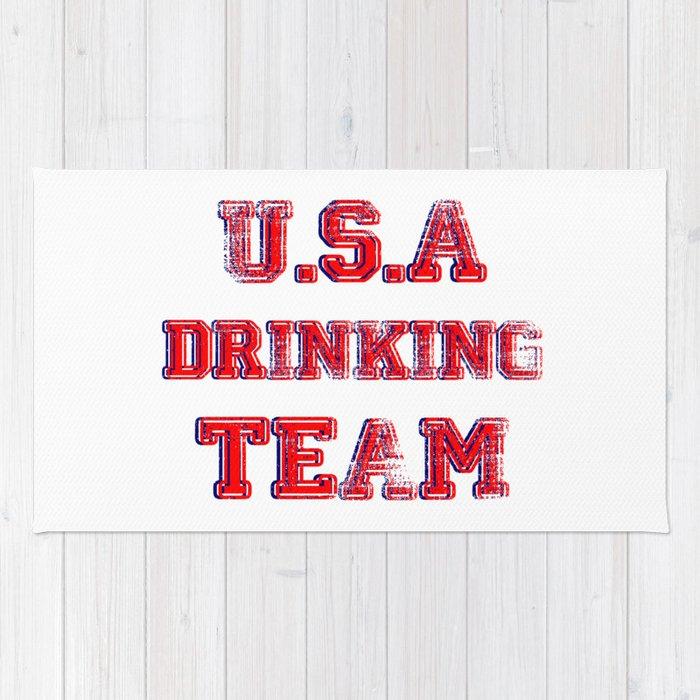 U.S.A drinking team Rug