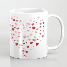 LOVE you! Watercolor Hearts. Valentine's Day Card Coffee Mug