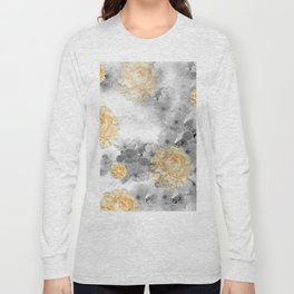CHERRY BLOSSOMS AND YELLOW ROSES Long Sleeve T-shirt