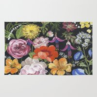 baroque Area & Throw Rugs featuring Baroque Garden by Edith Jackson-Designs