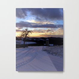 Amazing winter wonderland sundown | landscape photography Metal Print