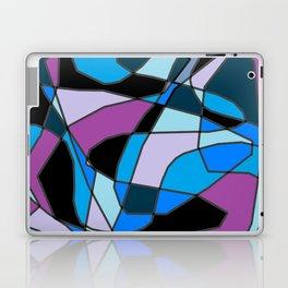 Scribble Art - Black Blue Purple Laptop & iPad Skin