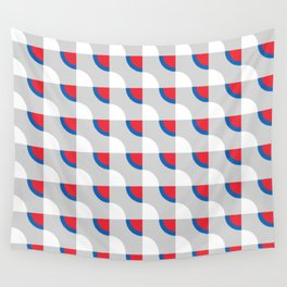 Quarter Circle Abstract Pattern Wall Tapestry
