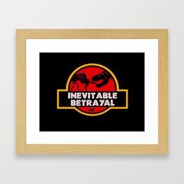 Jurassic Betrayal Framed Art Print