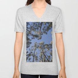 Angle shot of eucalyptus trees Unisex V-Neck