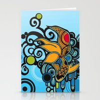koi fish Stationery Cards featuring Koi Fish by Diana Dypvik