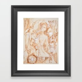 sepia I Framed Art Print