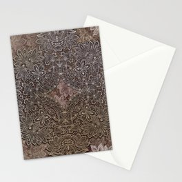 lace weave in milk chocolate Stationery Cards
