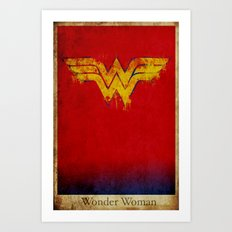 Wonder Logo Art Print