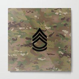 Sergeant First Class (Camo) Metal Print