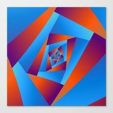 Orange and Blue Spiral Canvas Print