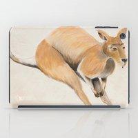 kangaroo iPad Cases featuring Kangaroo by 1k Blooms Studios
