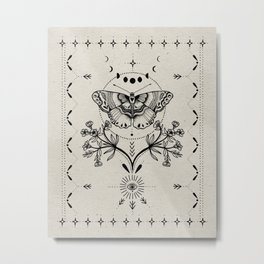 Magical Moth Metal Print
