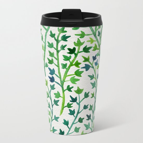 Summer Ivy Metal Travel Mug
