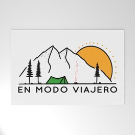 Mountains landscape Welcome Mat