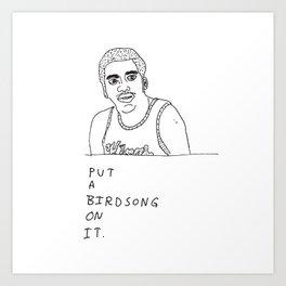 Otis Birdsong Art Print