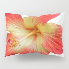 Gorgeous Red And Gold Hawaiian Hibiscus Flower No Text Pillow Sham