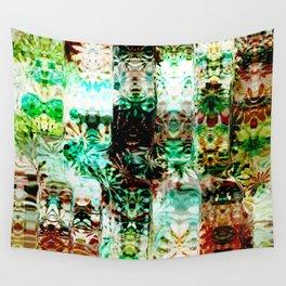 Emerald and Aqua Pattern Design Wall Tapestry