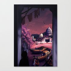 When the boats come in Canvas Print