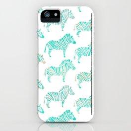 Zebras – Mint Palette iPhone Case
