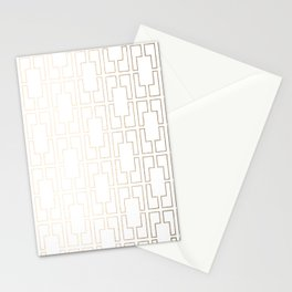 Simply Mid-Century in White Gold Sands Stationery Cards