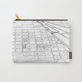 Texas from the Sky - Line Art Carry-All Pouch